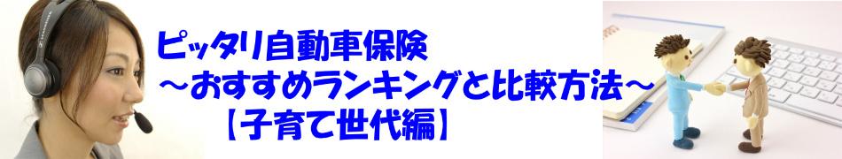 ピッタリ自動車保険〜おすすめランキングと比較方法【子育て世代編】〜